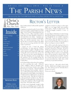 Advent  Newsletter cover
